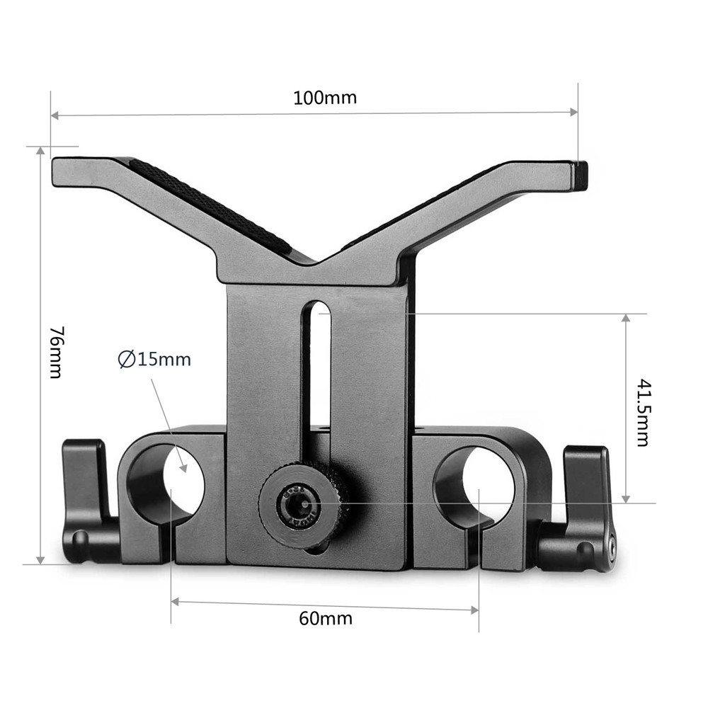 SmallRig Long Lens Support with Dual 15mm Rod Clamp 1087