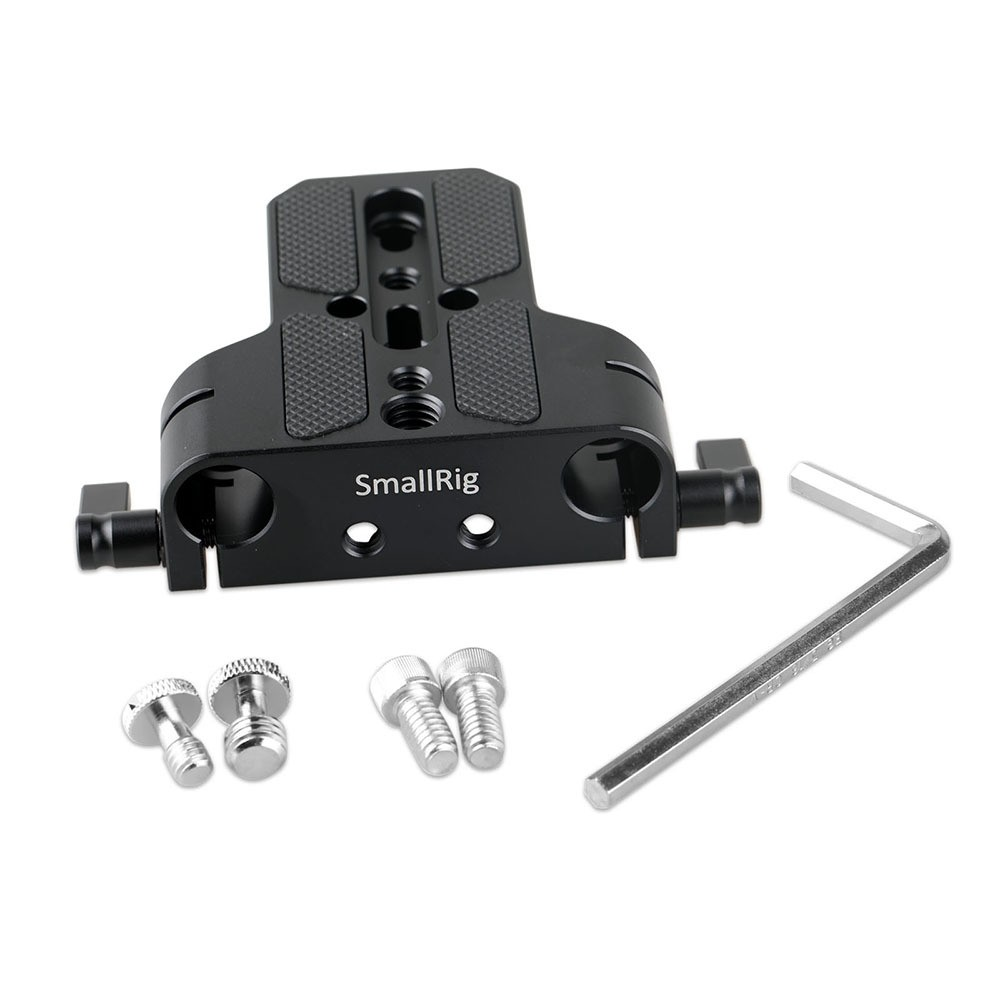 SmallRig Baseplate with Dual 15mm Rod Clamp 1674