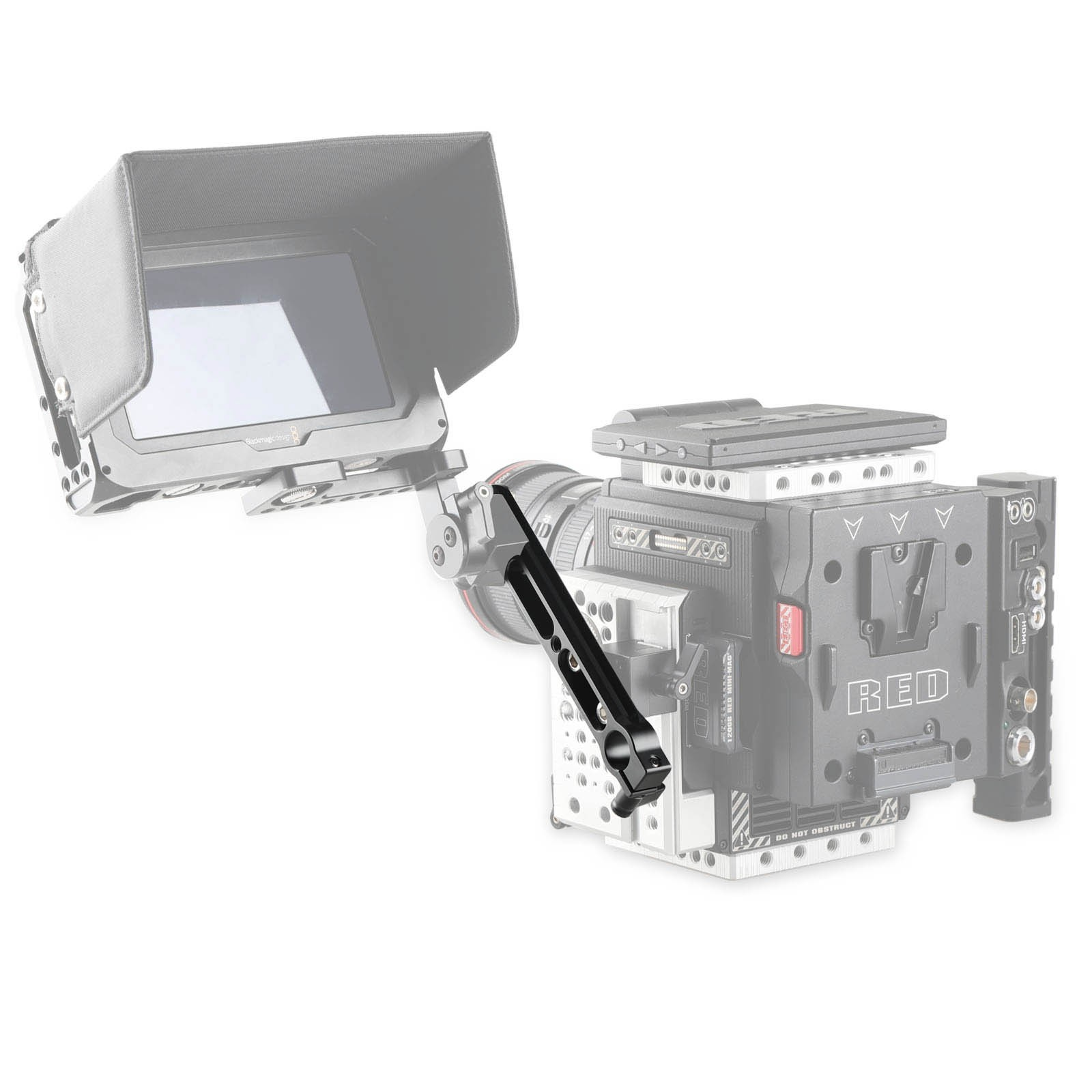 SmallRig Safety NATO Rail with 15mm Rod Clamp 1856