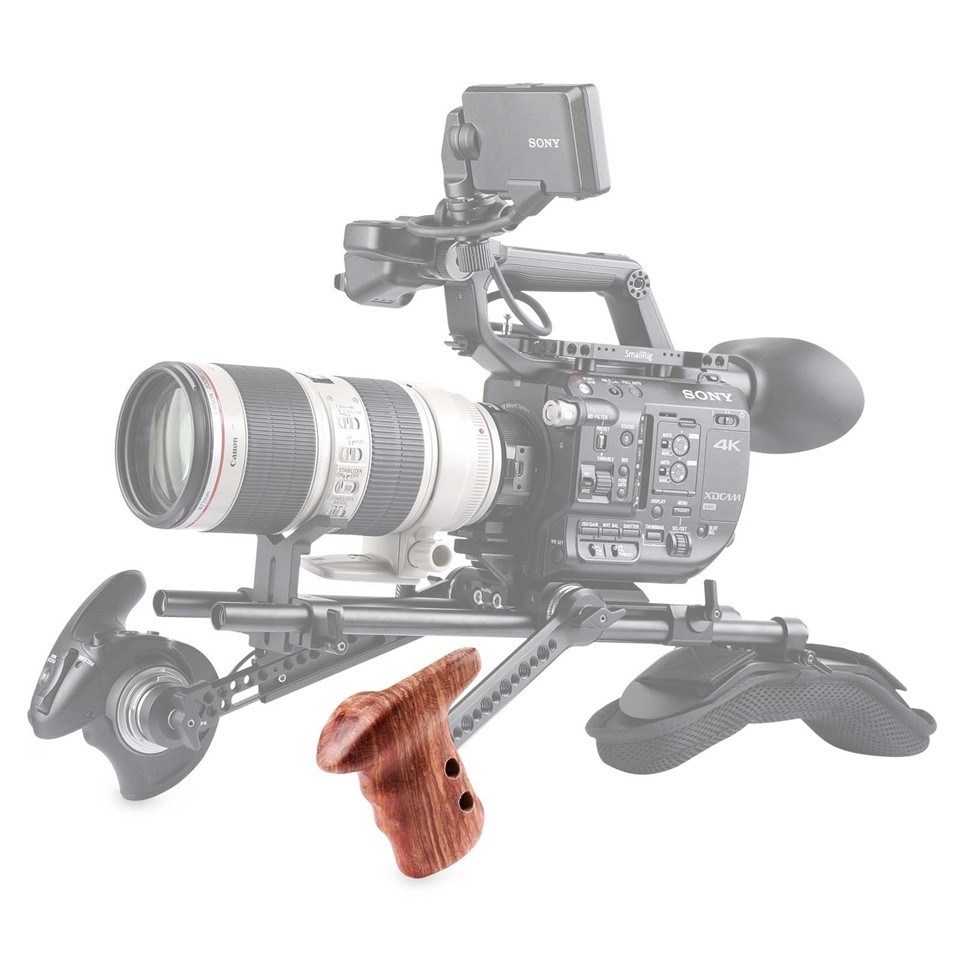 SmallRig Left Side Wooden Grip with Arri Rosette 1891B