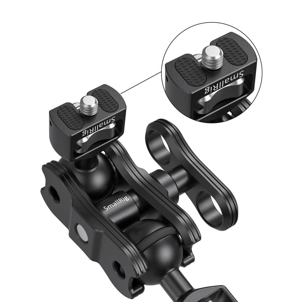 "SmallRig Articulating Arm with Double Ballheads( 1/4"" Screw) 2070B"
