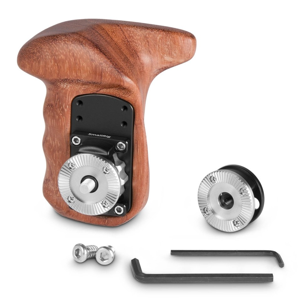SmallRig Right Side Wooden Grip with Arri Rosette Bolt-On Mount 2083B