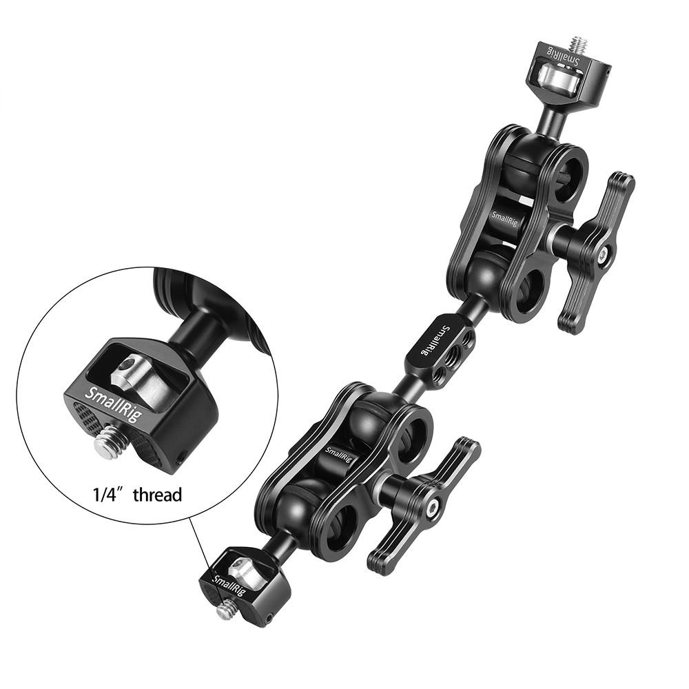 """SmallRig Ball Head Magic Arm Kit (1/4"""" Head x 2) 2109B"""