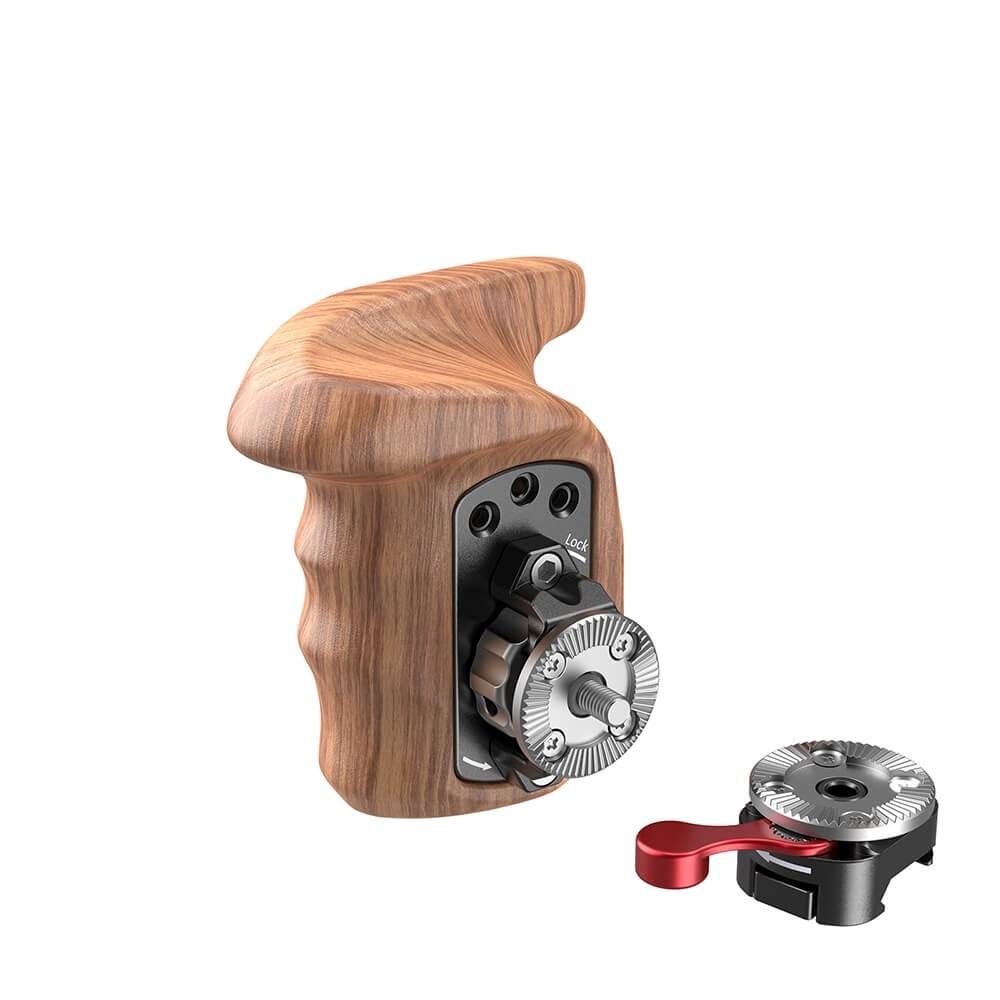 SmallRig Right Side Wooden Grip with NATO Mount 2117C