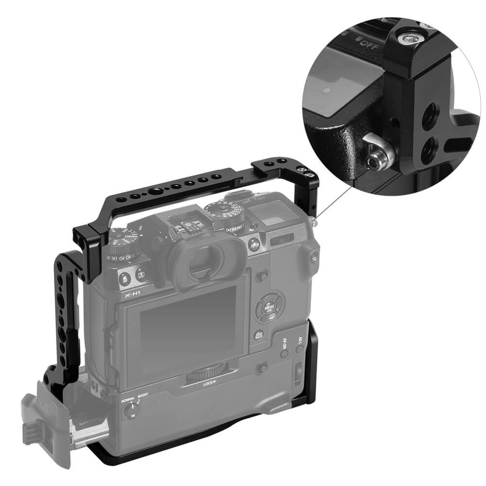 SmallRig Cage for Fujifilm X-H1 Camera with Battery Grip 2124B