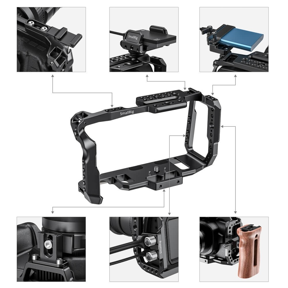 SmallRig Cage for Blackmagic Design Pocket Cinema Camera 4K & 6K 2203B