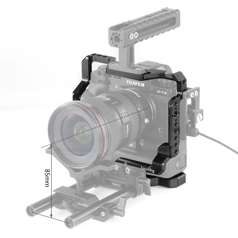 SmallRig Cage for Fujifilm X-T2 and X-T3 Camera with Battery Grip 2229
