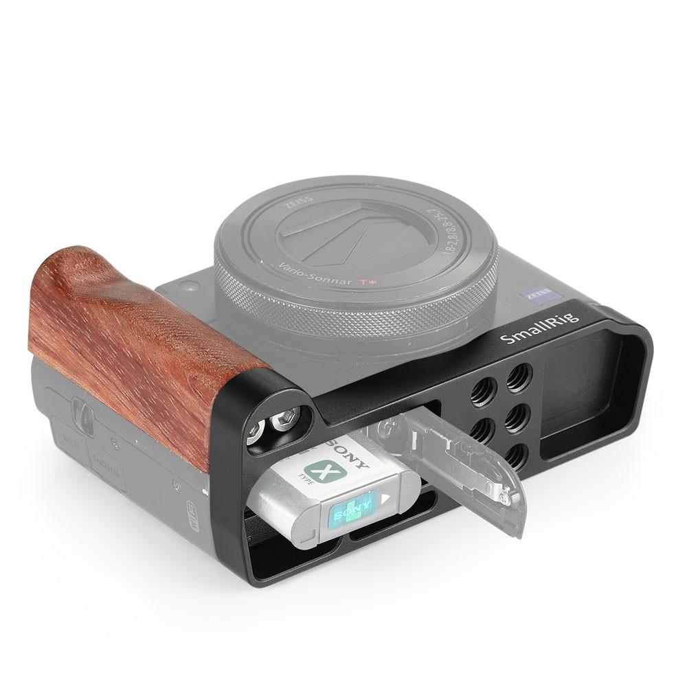 SmallRig L-shape wooden grip for Sony RX100 III IV V VA 2248