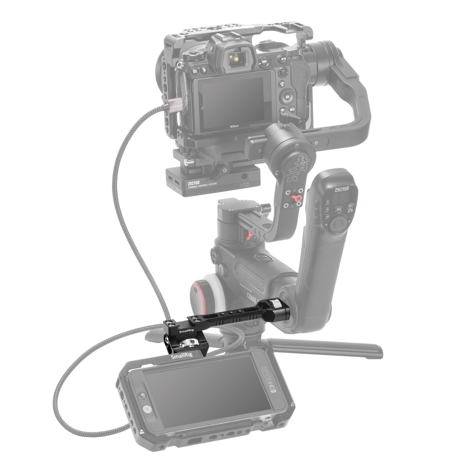 SmallRig Adjustable Monitor Mount for Selected DJI & Zhiyun & Moza Handheld Gimbal Stabilizers Gimbals BSE2386