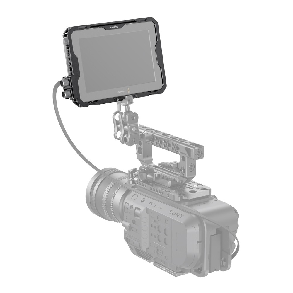 "SmallRig Cage with Sun Hood and HDMI Clamp for Blackmagic Design Video Assist 7"" 12G-SDI/HDMI 2792"