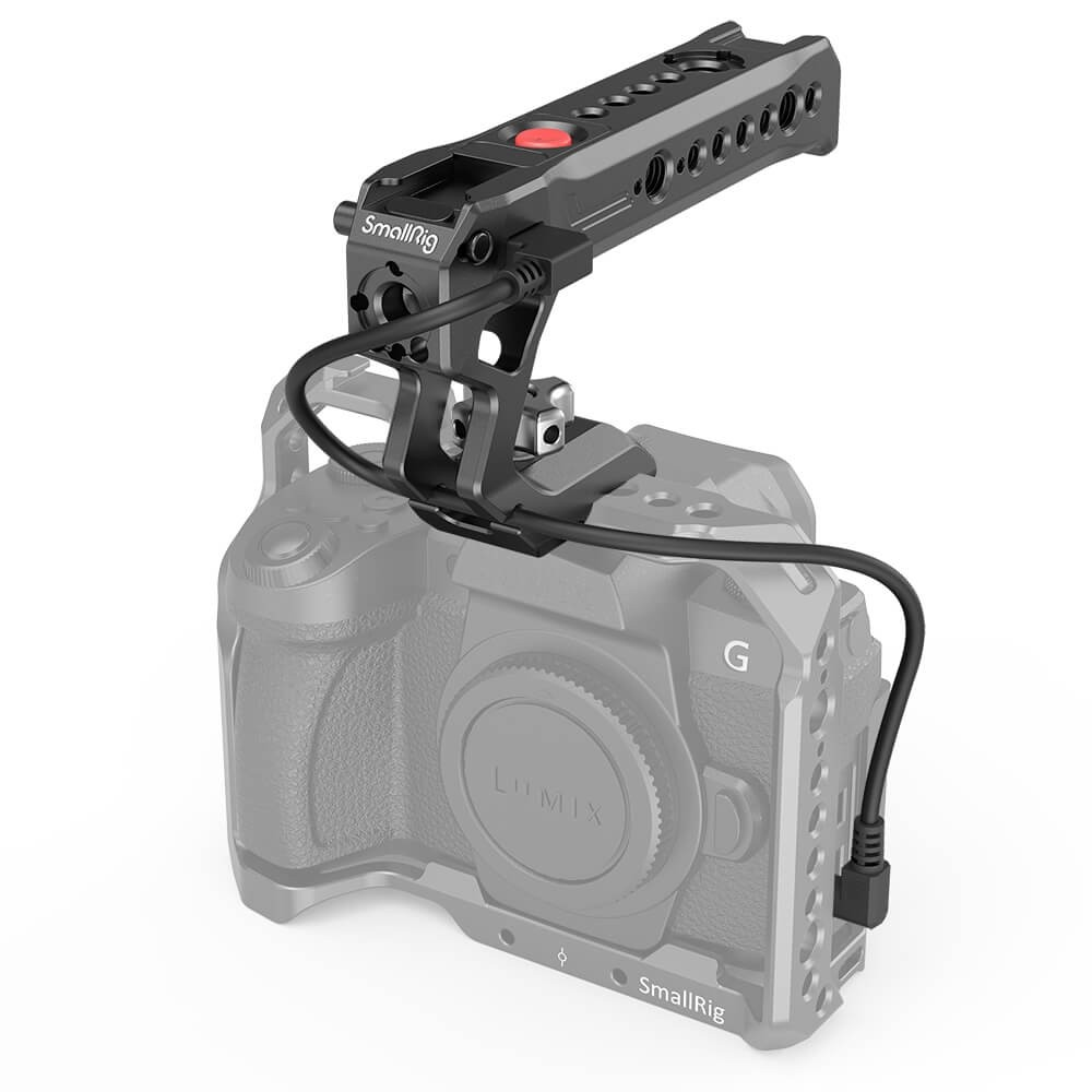 SmallRig NATO Top Handle with Record Start/Stop Remote Trigger for Panasonic and Fujifilm Mirrorless Cameras 2880B