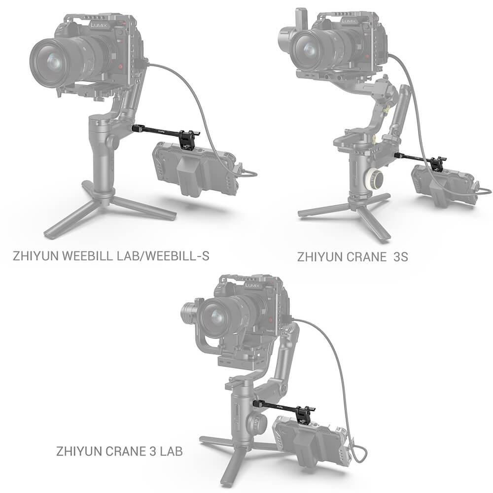 SmallRig Adjustable Monitor Mount for DJI RONIN-S/RONIN-SC & ZHIYUN CRANE 3/CRANE 3S/WEEBILL-S & MOZA AirCross 2 Gimbals 2889