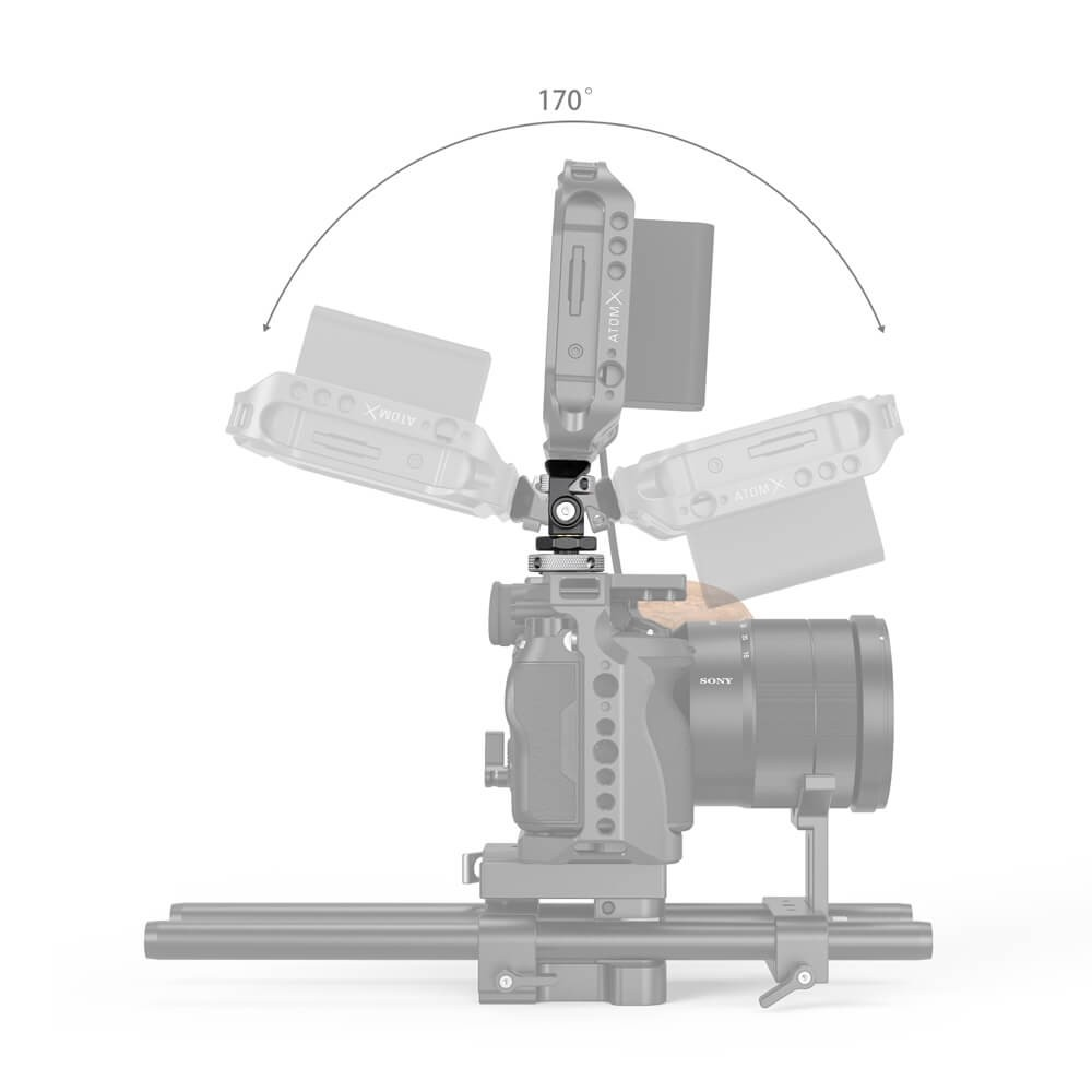 SmallRig Swivel and Tilt Adjustable Monitor Mount with Cold Shoe Mount 2905