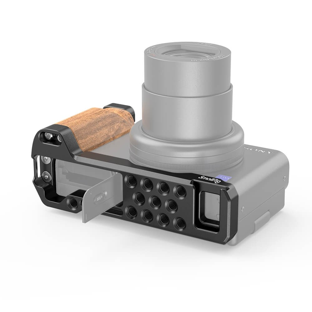 SmallRig L-Shape Wooden Grip with Cold Shoe for Sony ZV1 Camera 2936