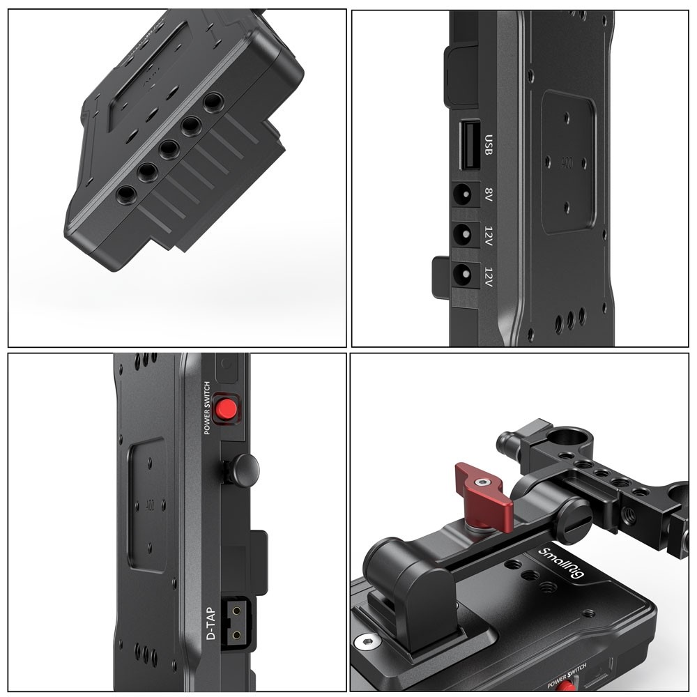 SmallRig V Mount Battery Adapter Plate with Adjustable Arm 3059