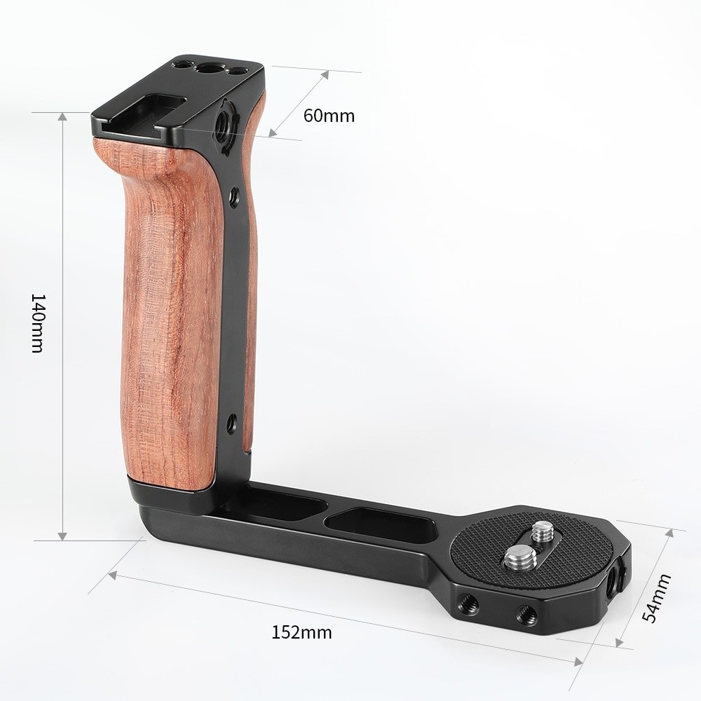 SmallRig Universal Wooden Side Handle for RoninS/SC/Zhiyun Crane Series Handheld Gimbal BSS2222B