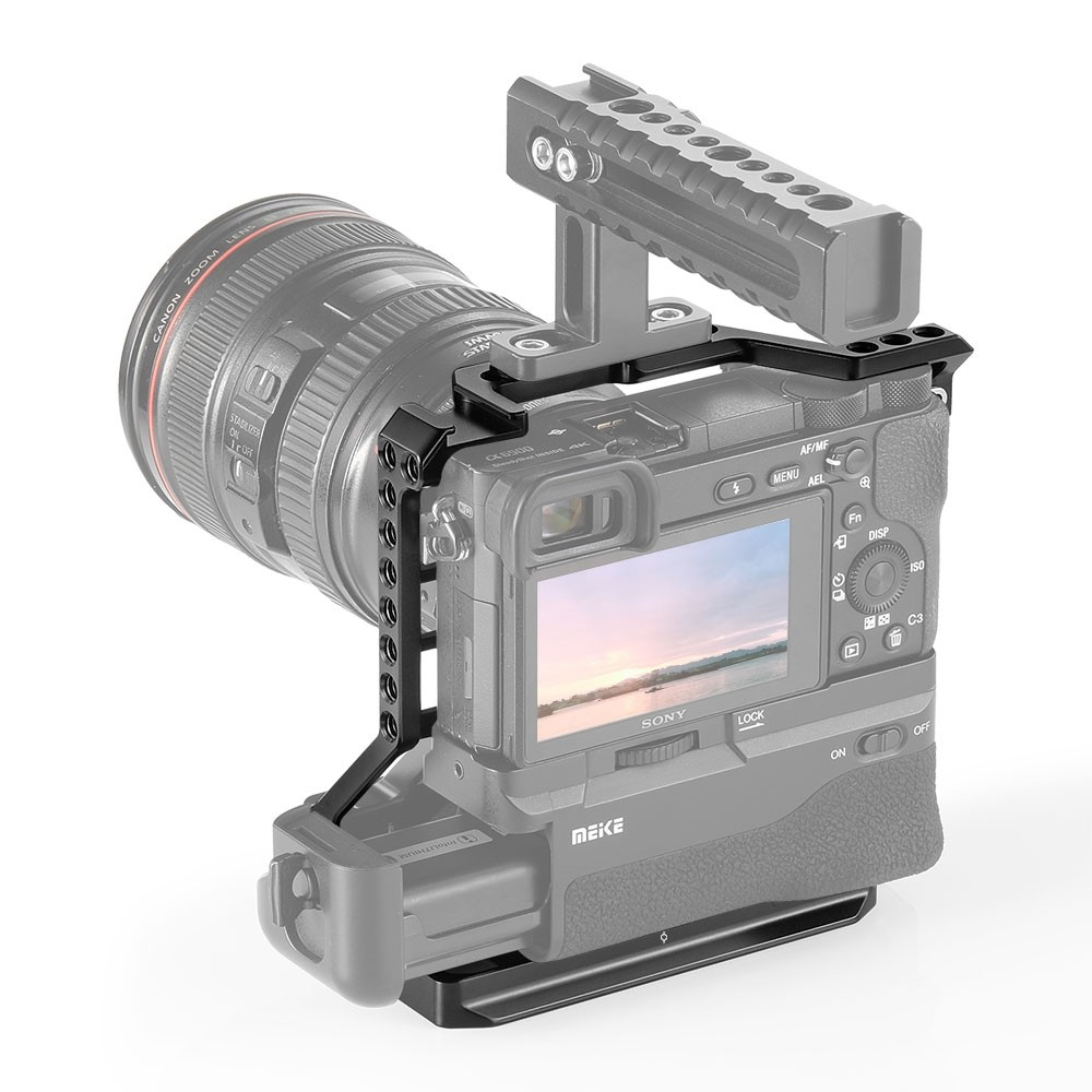 SmallRig Cage for Sony A6000/A6300/A6500 with Meike MK-A6300/A6500 Battery Grip CCS2268