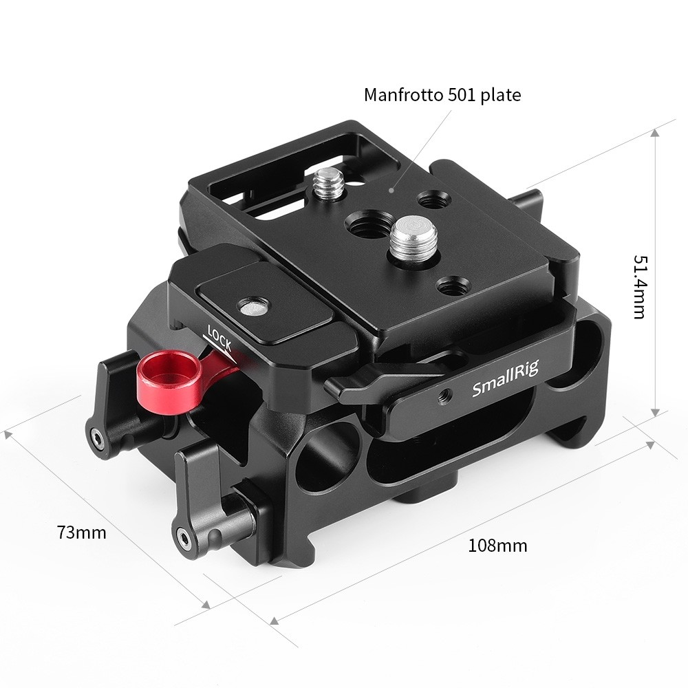 SmallRig Baseplate for BMPCC 4K (Manfrotto 501PL Compatible) DBM2266B