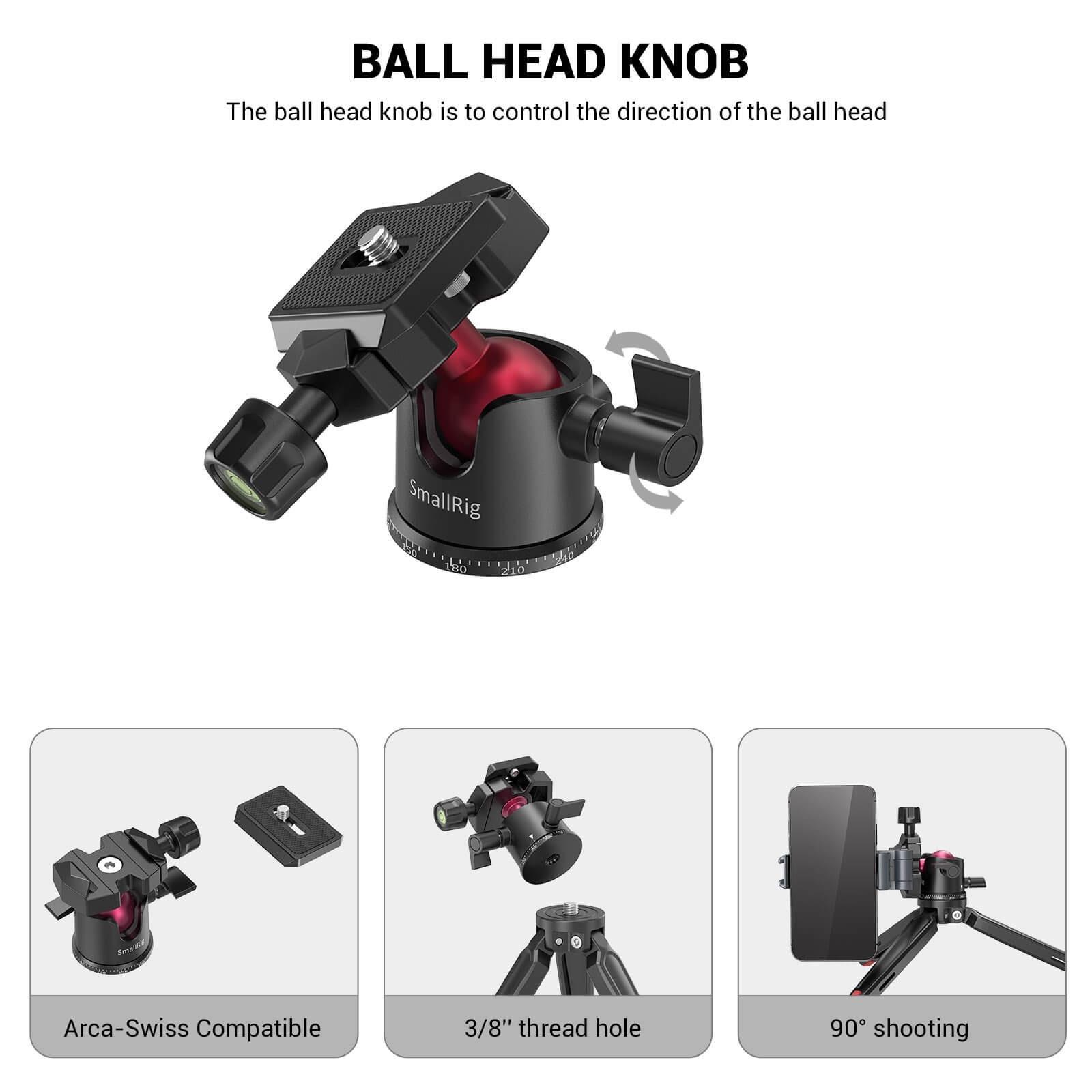 SmallRig Tabletop Mini Tripod with Panoramic Ball Head BUT2664