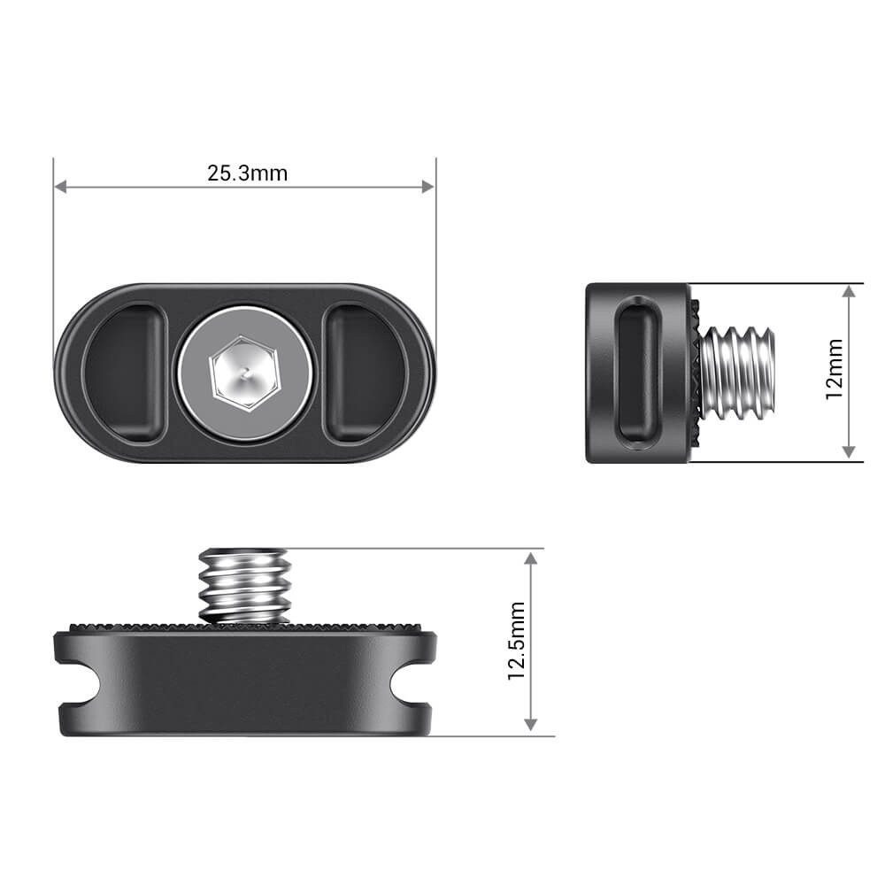 SmallRig Mini Plate for Gimbal Shoulder Strap (2 PCS) AAN2366