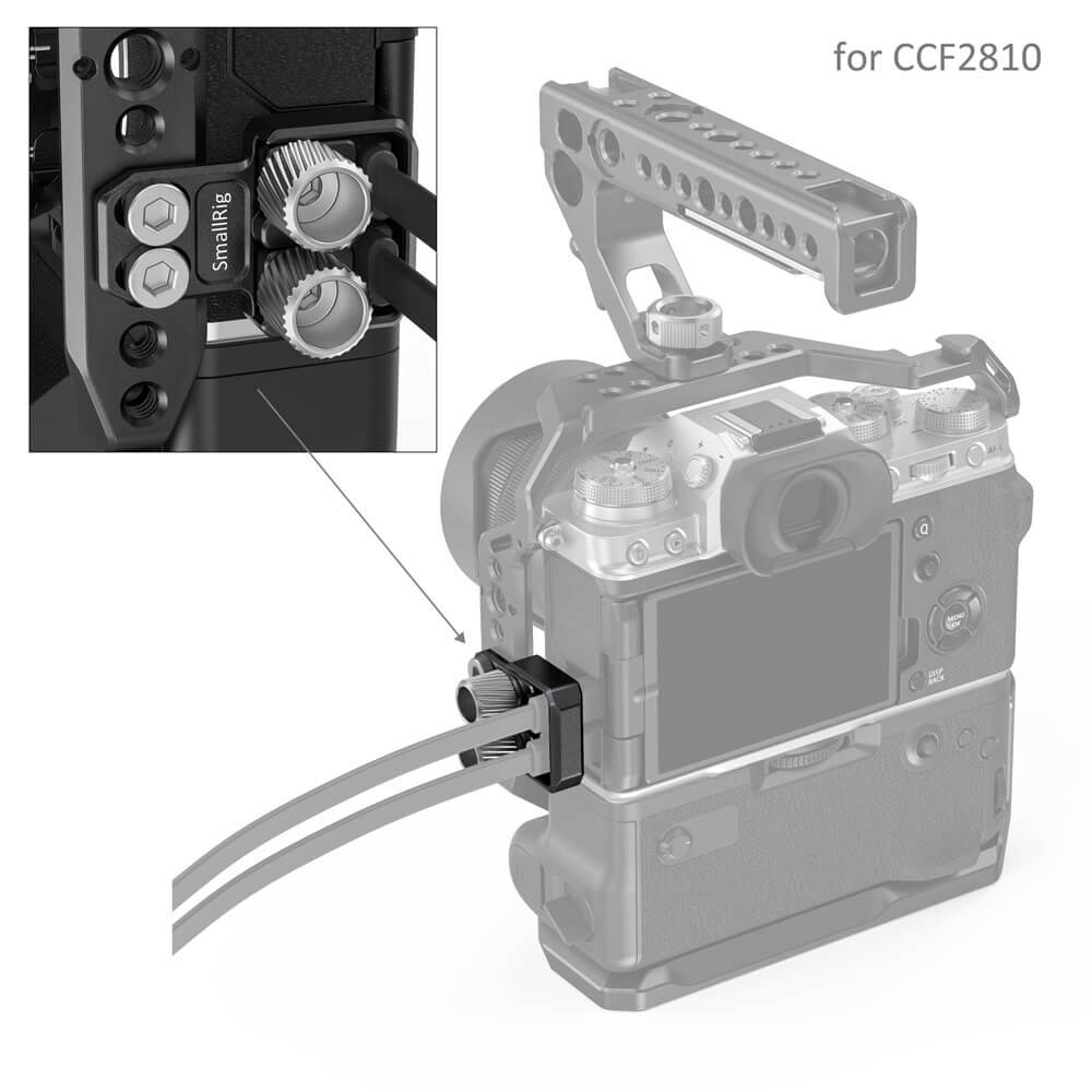 SmallRig HDMI and USB Type-C Cable Clamp for FUJIFILM X-T4 Cages BSC2809