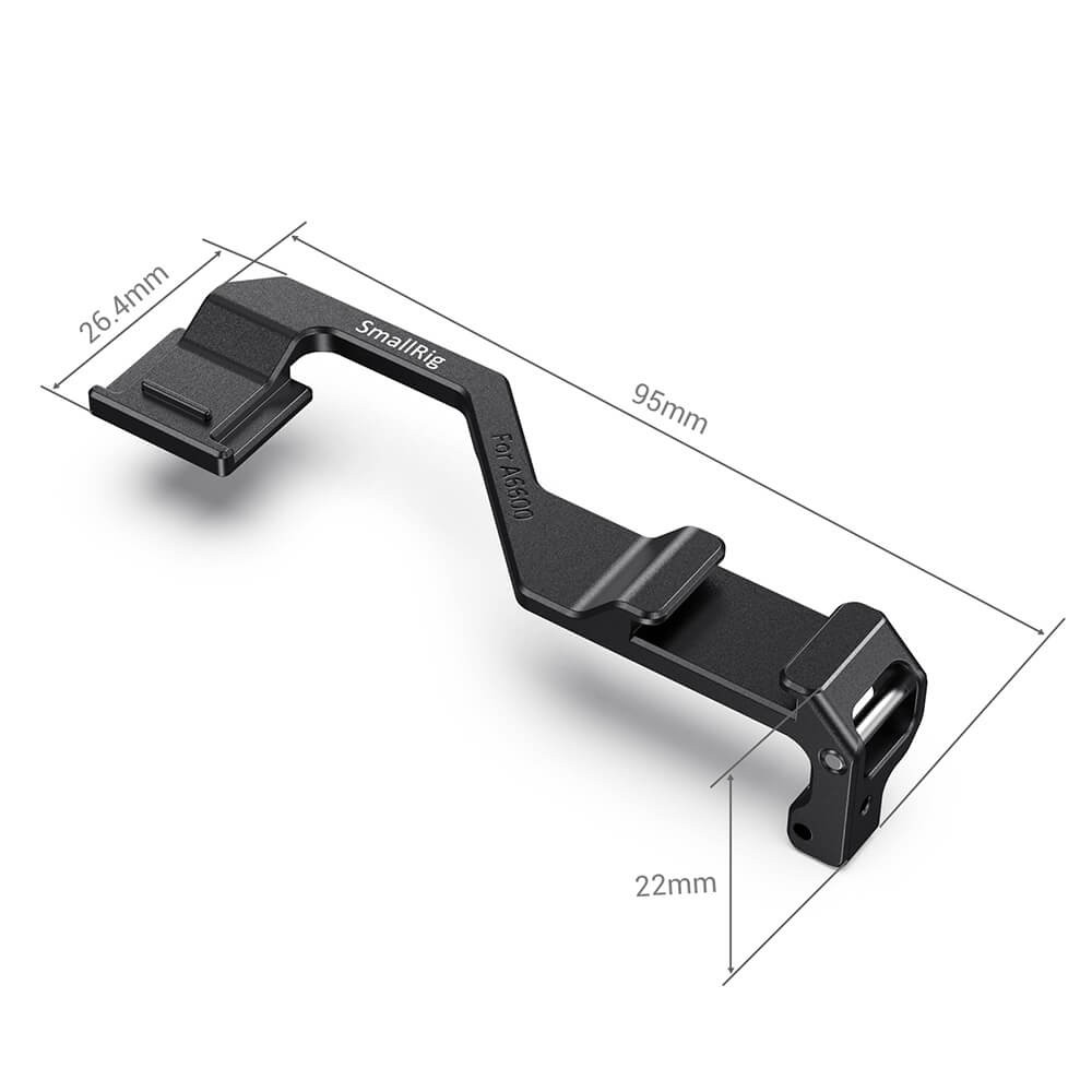 SmallRig Right-Side Shoe Mount Relocation Plate for Sony a6600 Camera BUC2496