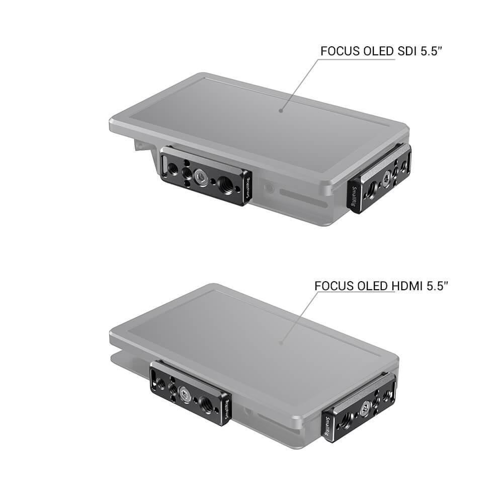 "SmallRig Nato Rail Plate for SmallHD Focus 7, Focus HDMI/SDI (5"") and Focus OLED HDMI/SDI (5.5"") BUN2464"
