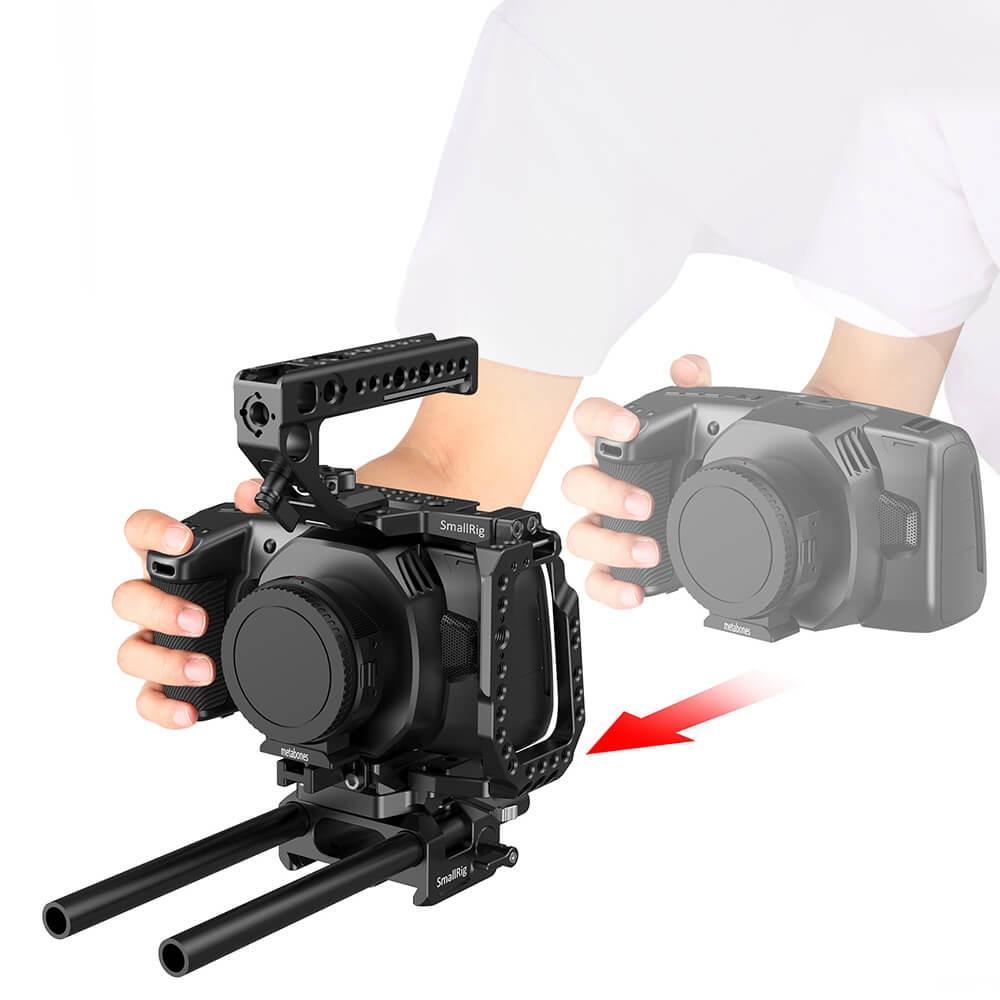 SmallRig QR Half Cage for Blackmagic Design Pocket Cinema Camera 4K & 6K (New Version) CVB2255B