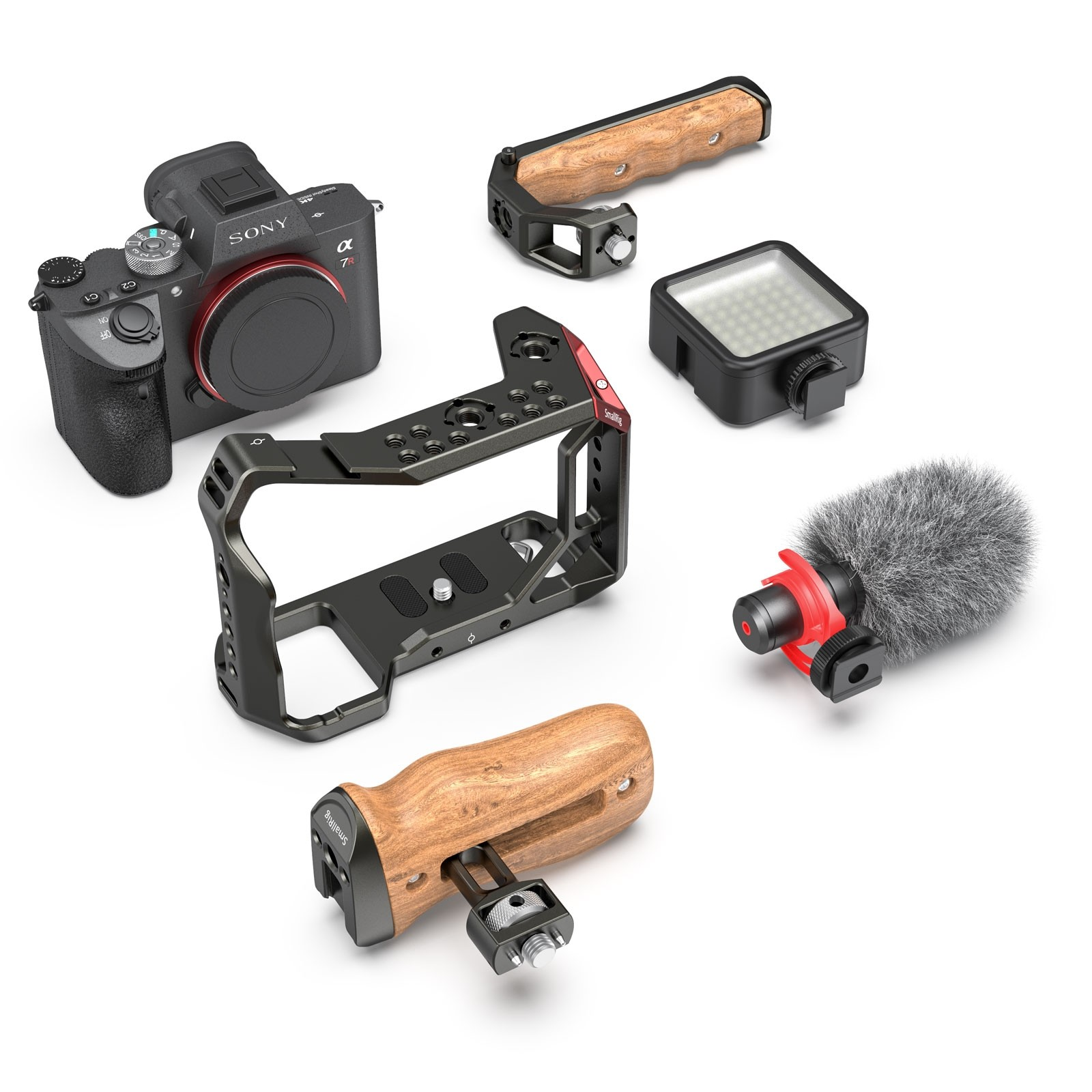 SmallRig Universal Wooden Side Handle for RoninS/Zhiyun Crane Series Handheld Gimbal 2222