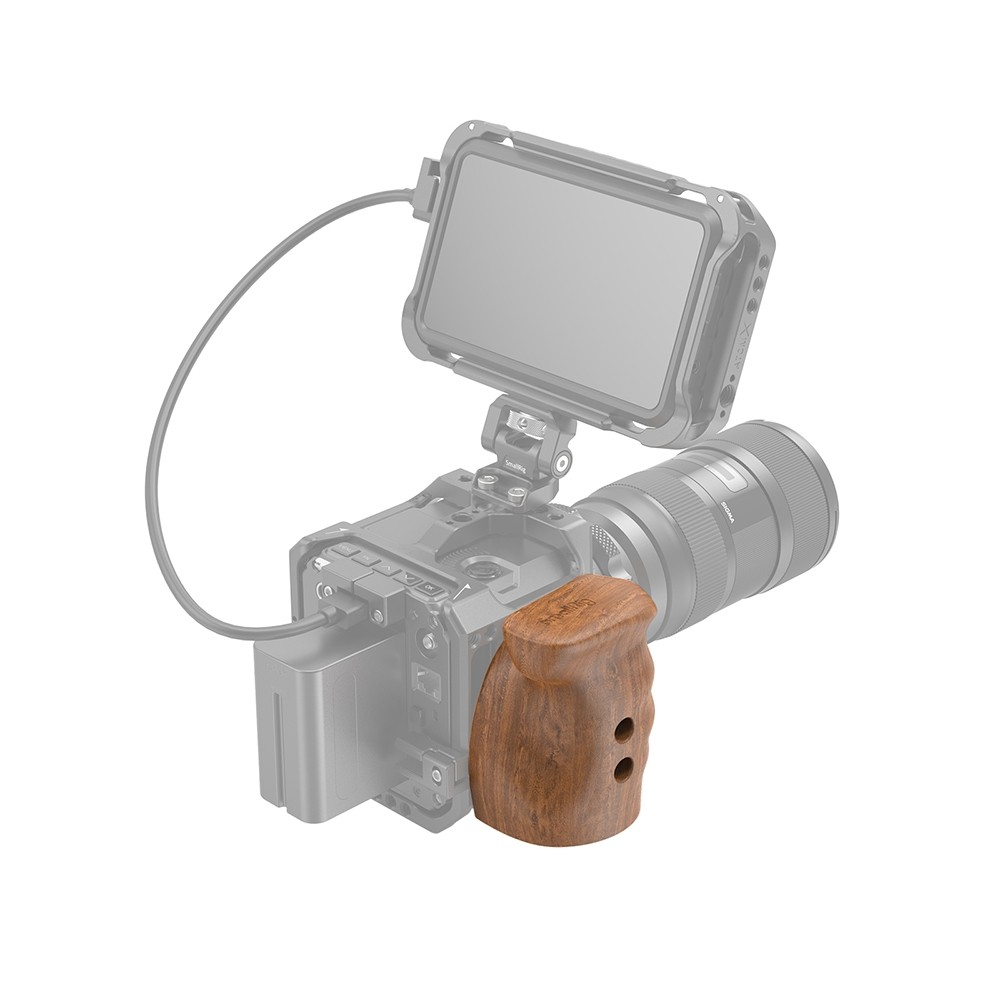 SmallRig Quick Release Wooden Grip for Z CAM E2 Series Cameras HTS2457