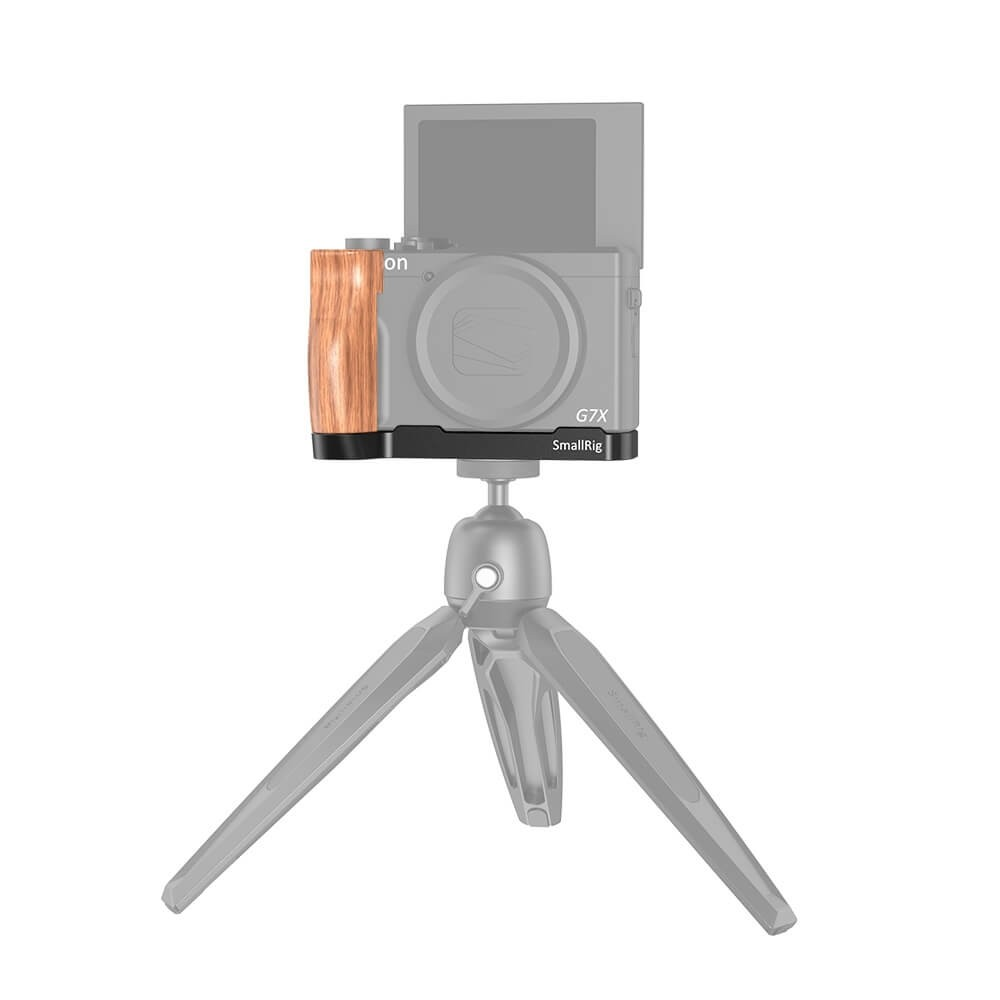 SmallRig L-Shaped Wooden Grip for Canon G7X Mark III LCC2445