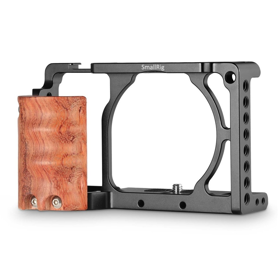 SmallRig Cage with Wooden Handgrip for Sony A6000/A6300 2082