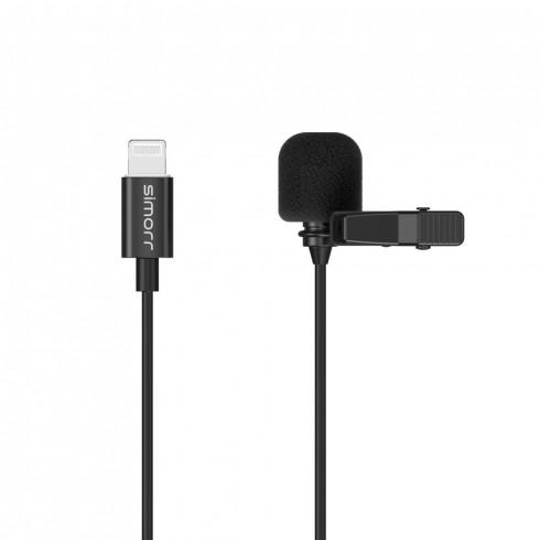 simorr Wave L3  Lightning Lavalier Microphone(Black)  3453
