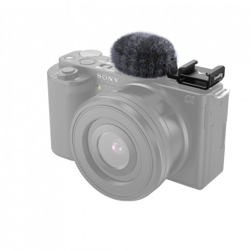 SmallRig Cold Shoe Adapter with Windshield for Sony ZV-E10 and ZV-1 3526