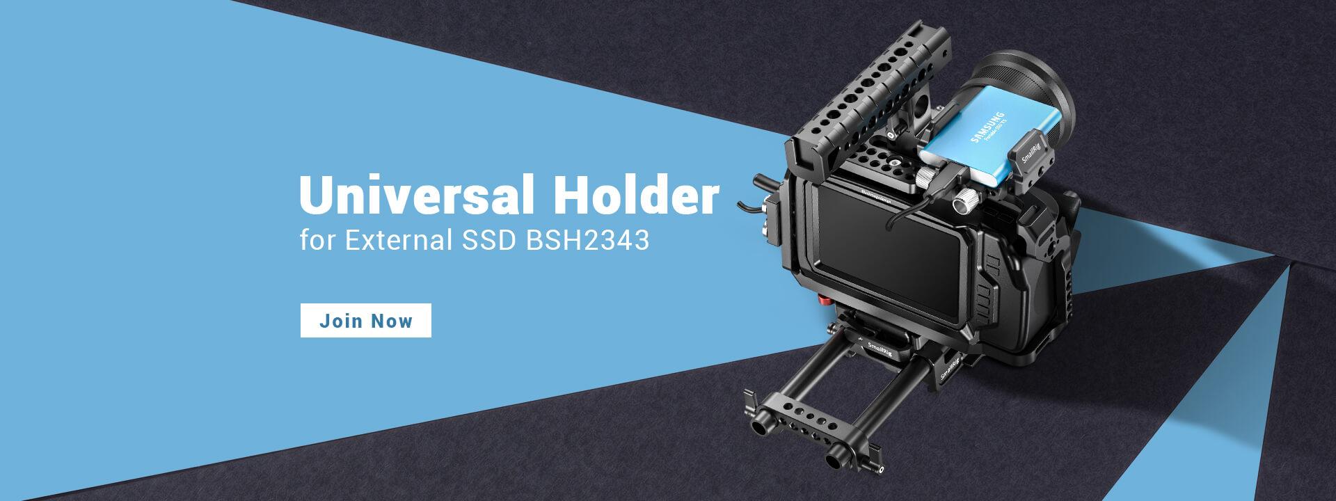 SMALLRIG UNIVERSAL HOLDER FOR EXTERNAL SSD BSH2343