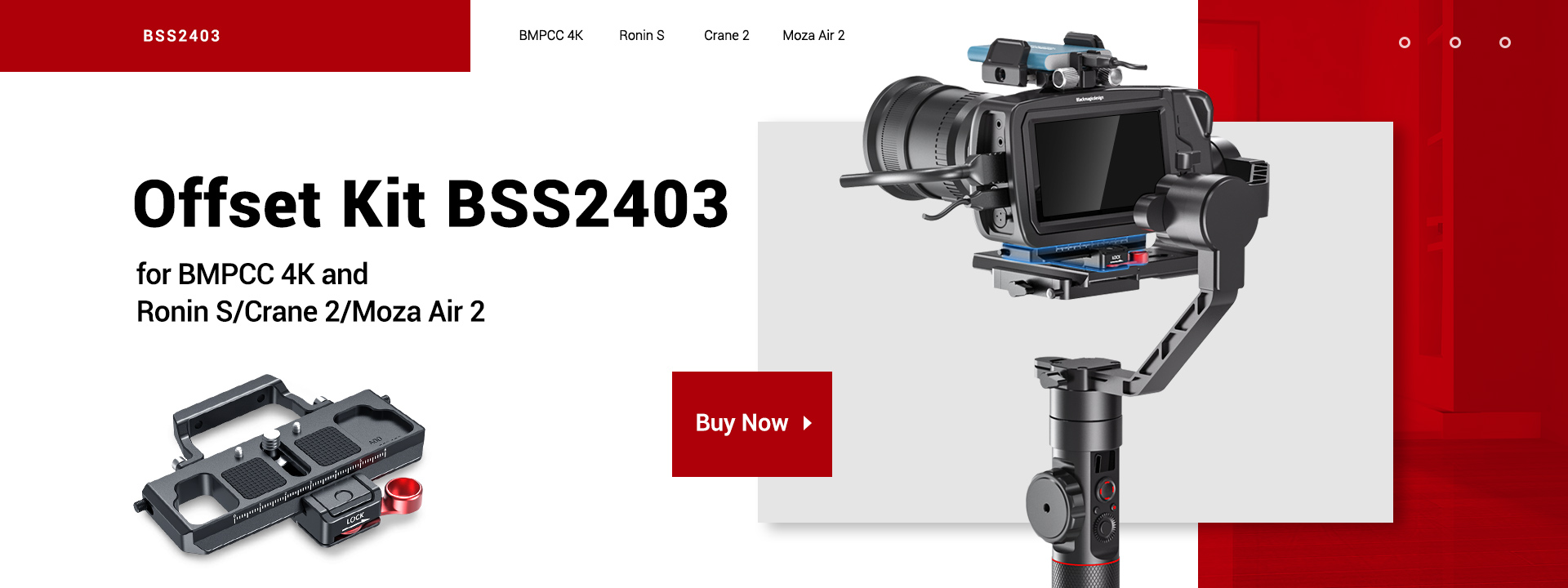 SMALLRIG OFFSET KIT FOR BMPCC 4K AND RONIN S CRANE 2 MOZA AIR 2 BSS2403