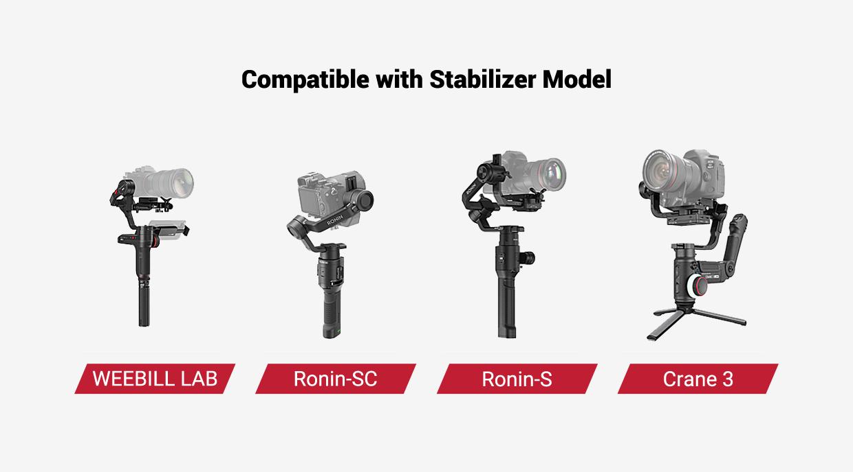 SmallRig Adjustable Monitor Mount for DJI Ronin-S/Ronin-SC/Zhiyun Crane 3/ Weebill Lab BSE2386